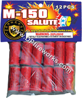 Fireworks - Firecracker Store - Buy firecrackers for sale online at US Fireworks Firecracker Store - Firecrackers are small rolled paper tubes with a fuse that produce a loud bang. Firecrackers can be purchased in packs rolls and strips. - M-150 Salute Firecracker - 12 pcs