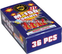 Fireworks - Firecracker Store - Buy firecrackers for sale online at US Fireworks Firecracker Store - Firecrackers are small rolled paper tubes with a fuse that produce a loud bang. Firecrackers can be purchased in packs rolls and strips. - M-150 Salute Firecracker - 36 pcs