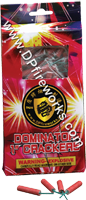 Fireworks - Firecracker Store - Buy firecrackers for sale online at US Fireworks Firecracker Store - Firecrackers are small rolled paper tubes with a fuse that produce a loud bang. Firecrackers can be purchased in packs rolls and strips. - Dominator 1inch Cracker