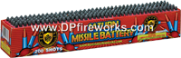 Fireworks - Missiles also know as Satun Missiles send whistling crackling rockets high into the air. We even have color tail Saturn Missiles - 200 shot Saturn Missile