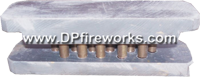 Fireworks - Equipment & Supplies - Fiberglass Mortar Tubes-Mortar Racks-E-match Blanks-Comet Pumps-Crossette Pumps-Chemical Mixing Screens-and much more. All your needs for homemade fireworks. - Star Plate, 1/2 (12.7mm) Inch x 17 holes