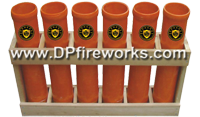 Fireworks - Equipment & Supplies - Fiberglass Mortar Tubes-Mortar Racks-E-match Blanks-Comet Pumps-Crossette Pumps-Chemical Mixing Screens-and much more. All your needs for homemade fireworks. - 4in Fiberglass Mortar Rack (6 tubes)
