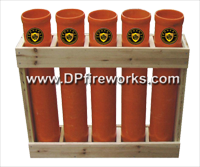 Fireworks - Equipment & Supplies - Fiberglass Mortar Tubes-Mortar Racks-E-match Blanks-Comet Pumps-Crossette Pumps-Chemical Mixing Screens-and much more. All your needs for homemade fireworks. - 5in Fiberglass Mortar Rack (5 tubes)