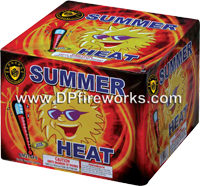 Fireworks - Fountains Fire Works have one or more tubes that spray bright colorful sparks and loud crackle sparks high into the air! - Summer Heat Fountain