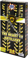 Fireworks - Reloadable Artillery Shells/Mortars Fireworks For Sale- Relodable Kits contain a mortar tube and several shells that are loaded and fired one at a time. - The Beast of Artillery - 500g Cake