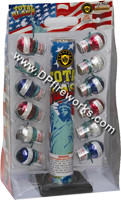 Fireworks - Reloadable Artillery Shells/Mortars Fireworks For Sale- Relodable Kits contain a mortar tube and several shells that are loaded and fired one at a time. - Total Blast - 12 shot- - Artillery Shells