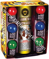 Fireworks - Reloadable Artillery Shells/Mortars Fireworks For Sale- Relodable Kits contain a mortar tube and several shells that are loaded and fired one at a time. - 1in Snub Nose Artillery - Artillery Shells