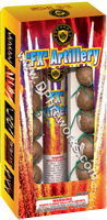 Fireworks - Reloadable Artillery Shells/Mortars Fireworks For Sale- Relodable Kits contain a mortar tube and several shells that are loaded and fired one at a time. - FX Artillery - Artillery Shells