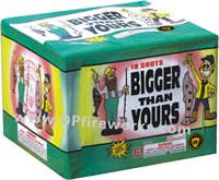 Fireworks - Maximum Load 500g Cakes - Our top selling fire works - Bigger Than Yours - 500g Cake