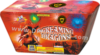 Fireworks - Maximum Load 500g Cakes - Our top selling fire works - Screaming Dragons - 500g Cake