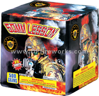 Fireworks - Maximum Load 500g Cakes - Our top selling fire works - 50mm Lesson - 500g Cake