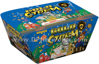 Fireworks - Maximum Load 500g Cakes - Our top selling fire works - Gold Storm - 500g Cake