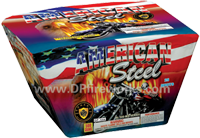 Fireworks - Maximum Load 500g Cakes - Our top selling fire works - American Steel - 500g Cake