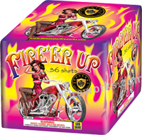 Fireworks - Maximum Load 500g Cakes - Our top selling fire works - Fire er Up - 500g Cake