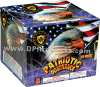 Fireworks - Maximum Load 500g Cakes - Our top selling fire works - Patriotic Dominance - 500g Cake