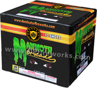 Fireworks - Maximum Load 500g Cakes - Our top selling fire works - MAMMOTH BROCADE