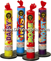 Fireworks - Fountains Fire Works have one or more tubes that spray bright colorful sparks and loud crackle sparks high into the air! - 9in Floral Fountain Assortment