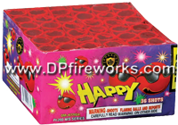 Fireworks - 200G Multi-Shot Cake Aerials Store - Buy fireworks cake for sale on-line - 36 Shot Happy
