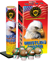 Fireworks - Reloadable Artillery Shells/Mortars Fireworks For Sale- Relodable Kits contain a mortar tube and several shells that are loaded and fired one at a time. - Dominator - WHISTLING BUSTER - Artillery Shells